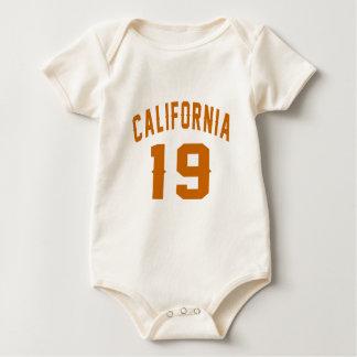 California 19 Birthday Designs Baby Bodysuit