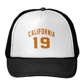 California 19 Birthday Designs Trucker Hat