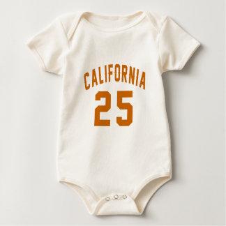 California 25 Birthday Designs Baby Bodysuit
