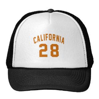 California 28 Birthday Designs Trucker Hat
