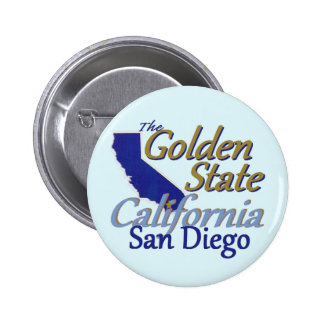 CALIFORNIA 2 INCH ROUND BUTTON