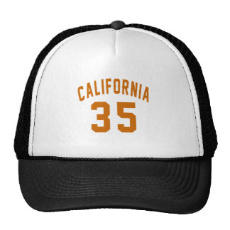 California 35 Birthday Designs Trucker Hat