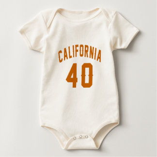 California 40 Birthday Designs Baby Bodysuit