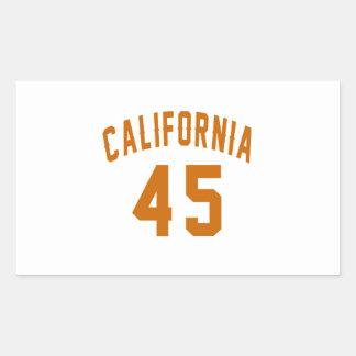 California 45 Birthday Designs