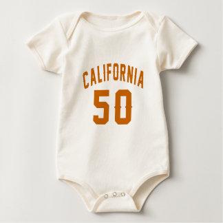 California 50 Birthday Designs Baby Bodysuit