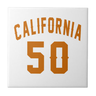 California 50 Birthday Designs Tile