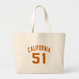 California 51Birthday Designs Large Tote Bag