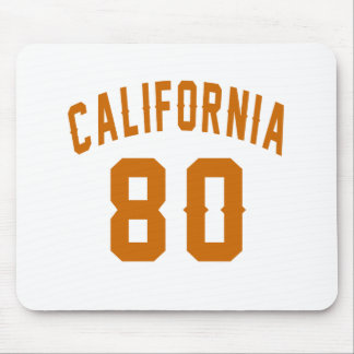 California 80 Birthday Designs Mouse Pad