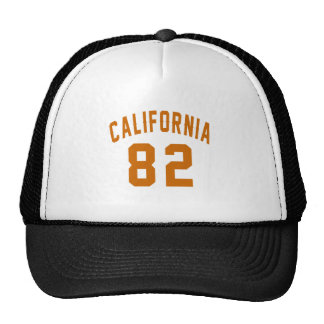 California 82 Birthday Designs Trucker Hat