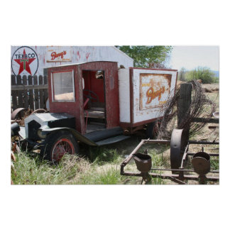 California Abandoned Barq's Truck Poster