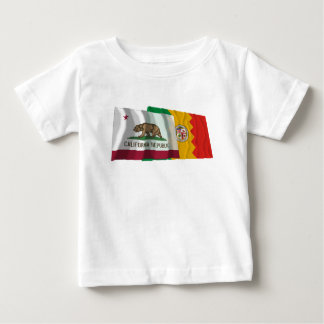 California and Los Angeles Flags Baby T-Shirt