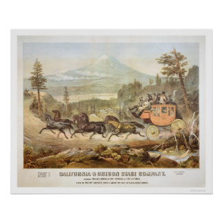 California and Oregon Stage Company Poster