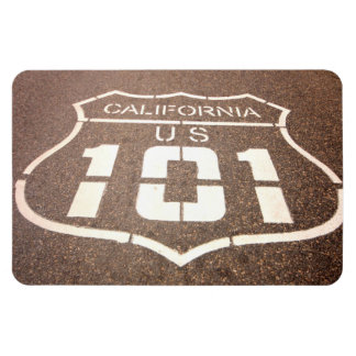 California and U.S. 101 Highway Magnet