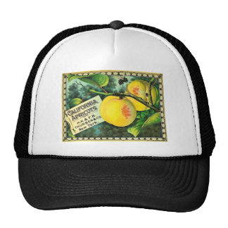 California Apricots - Vintage Crate Label Trucker Hat