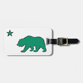 California artistic green flag luggage tag