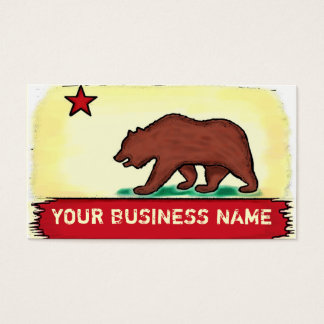 California artistic state flag custom cards