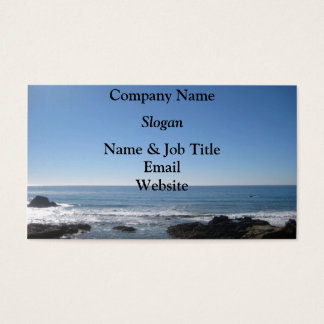 California Beach Dual Sided Business Cards