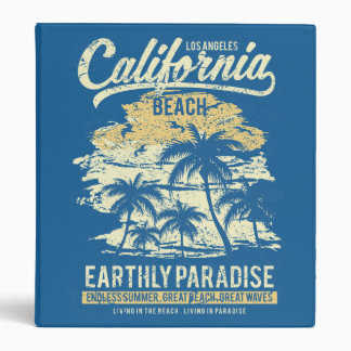 California Beach Living in Paradise Endless Summer 3 Ring Binder