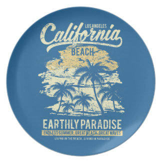 California Beach Living in Paradise Endless Summer Plate