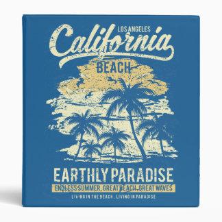 California Beach Living in Paradise Endless Summer Vinyl Binders