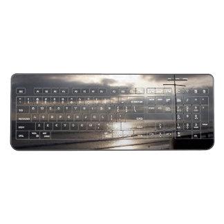 California Beach Ocean Cross Wireless Keyboard