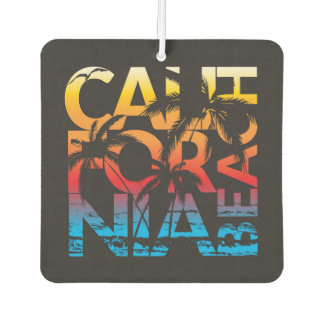 California Beach Poster Air Freshener