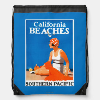 California Beaches Promotional Poster Backpacks