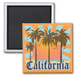 California Beaches Sunset Magnets