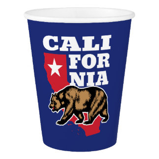 California Bear and Star Paper Cup