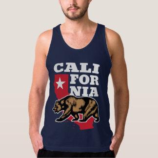 California Bear and Star Tank Top
