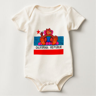 California Bear Feet Flag Baby Bodysuit