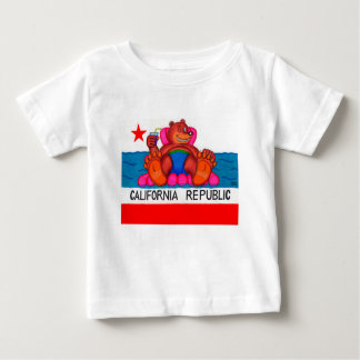 California Bear Feet Flag Baby T-Shirt