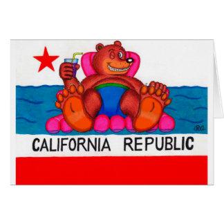 California Bear Feet Flag Card