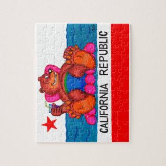 California Bear Feet Flag Jigsaw Puzzle