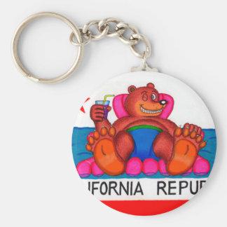 California Bear Feet Flag Keychain