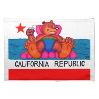 California Bear Feet Flag Placemat
