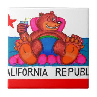 California Bear Feet Flag Tile
