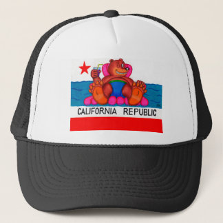 California Bear Feet Flag Trucker Hat