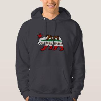 California Bear Flag (vintage distressed) Hoodie