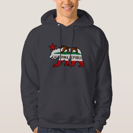 California Bear Flag (vintage distressed) Hoodie