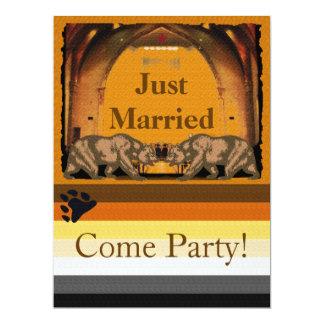 California Bear Gay Just Married Party Invitation