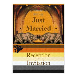 California Bear Just Married Reception Invitation