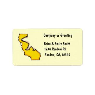 California bear state symbol custom address labels