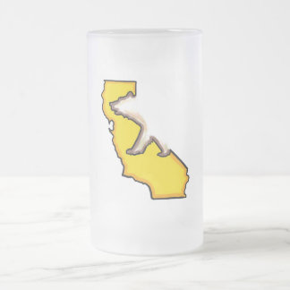 California bear state symbol frosted beer mug