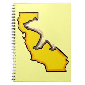 California bear state symbol yellow notebook