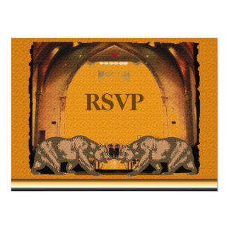"California Bear Wedding RSVP for Gay Grooms 6.5"" X 8.75"" Invitation Card"