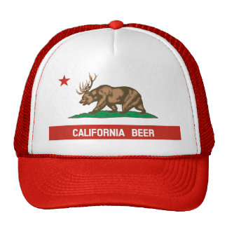 California Beer Bear Deer State Flag Trucker Hat