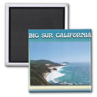 California Big Sur Ocean View II Square Magnet