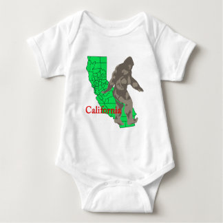 California bigfoot baby bodysuit