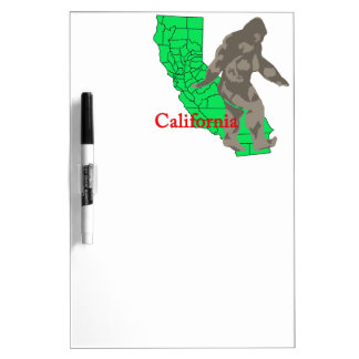 California bigfoot dry erase board